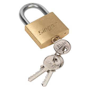 Sealey S0987 Brass Body Padlock With Brass Cylinder 40Mm