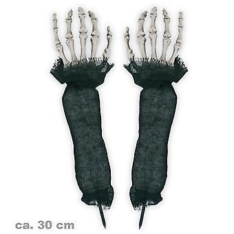Halloween Dekohände bones undead zombie horror