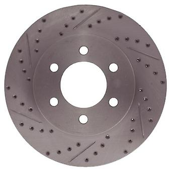 StopTech 227.65097R Select Sport Drilled and Slotted Brake Rotor; Front Right