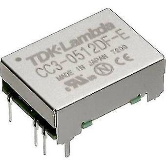 TDK-Lambda CC-3-2412DF-E DC/DC converter (print) 24 Vdc -12 Vdc, 12 Vdc, 15 Vdc 0.125 A 3 W No. of outputs: 2 x
