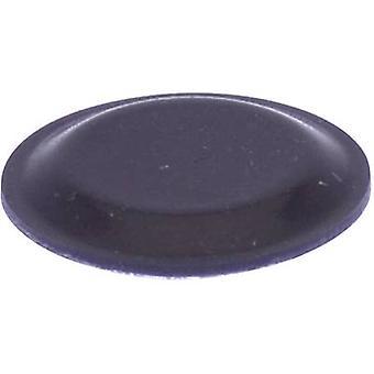 TOOLCRAFT PD2191SW Foot self-adhesive, circular Black (Ø x H) 19 mm x 1.9 mm 1 pc(s)