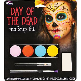 Halloween Day of the Dead Sugar Skull Face Paint Make Up Kit