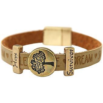 Gemshine - Damen - Armband - Lebensbaum - WISHES - Braun - Sand - Magnetverschluss - Hope - Survivor