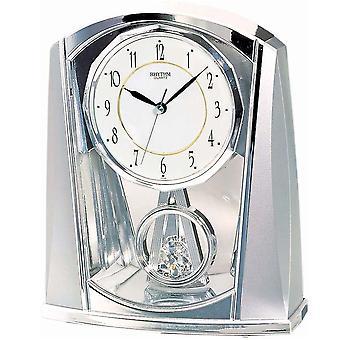 表时钟石英手表银节奏用慢动作摆 21 x 18 厘米