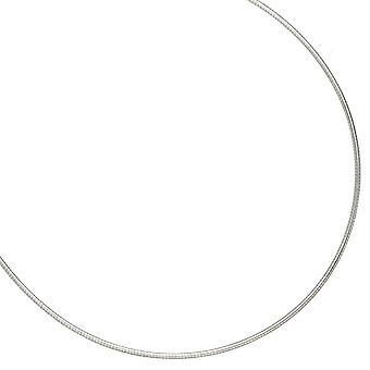 Ожерелье в 925 /-s 1,5 мм родия покрытием ожерелье серебра 45 см Карабинчиком