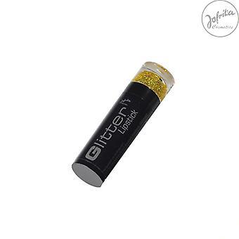Glitter lipstick gold