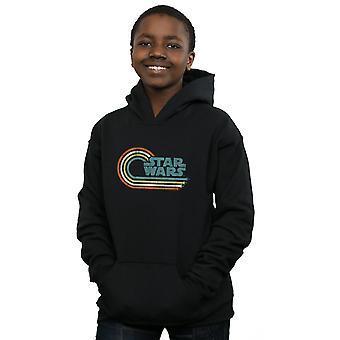 Звездные войны мальчиков ретро волну логотип капюшоном