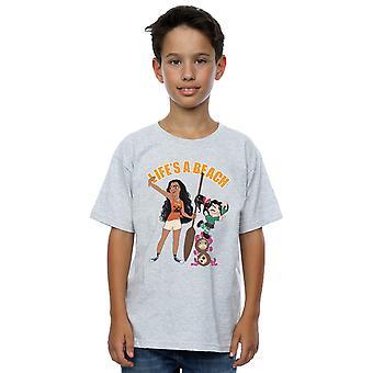 Disney gutter vrak det Ralph Moana og Vanellope t-skjorte