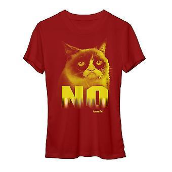 Grumpy Cat No Women's Red Funny T-shirt