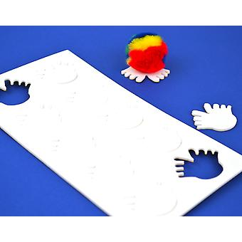 10 Foam Self Adhesive Feet Shapes for Bugs - White | Childrens Craft Foam