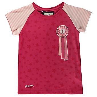 Vereiste Kids meisjes rozet T Shirt bemanning hals Tee Top korte mouw ronde van katoen