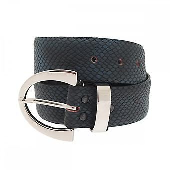 Stephen Collins Women's Leather Belt With Silver Buckle