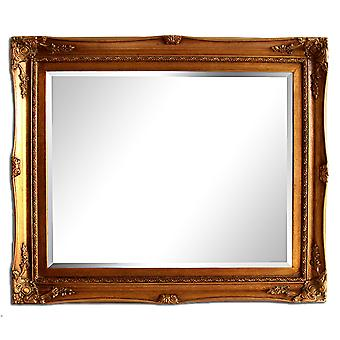 Dimensions 54x64 cm, mirror in gold