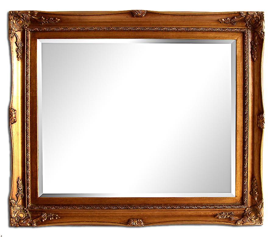 Yttermått 54x64 cm, spegel i guld