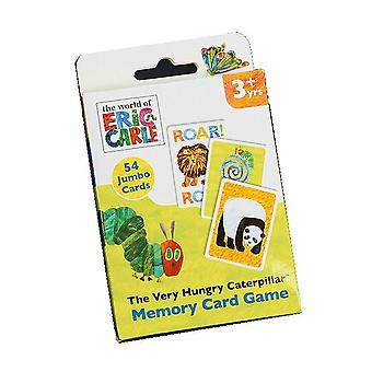 El juego de tarjeta de memoria de oruga muy hambrienta