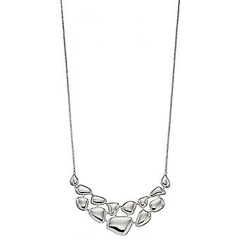 Elements Silver Organic Pebble Necklace - Silver
