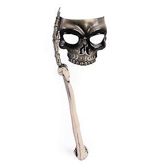 Skallen maske med bein håndtak