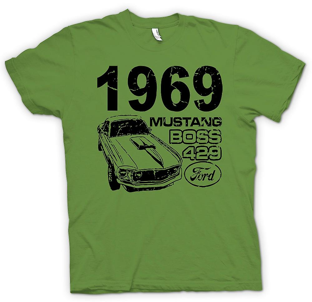 Mens T-shirt - 1969 Mustang Boss 429 - Classic US Car