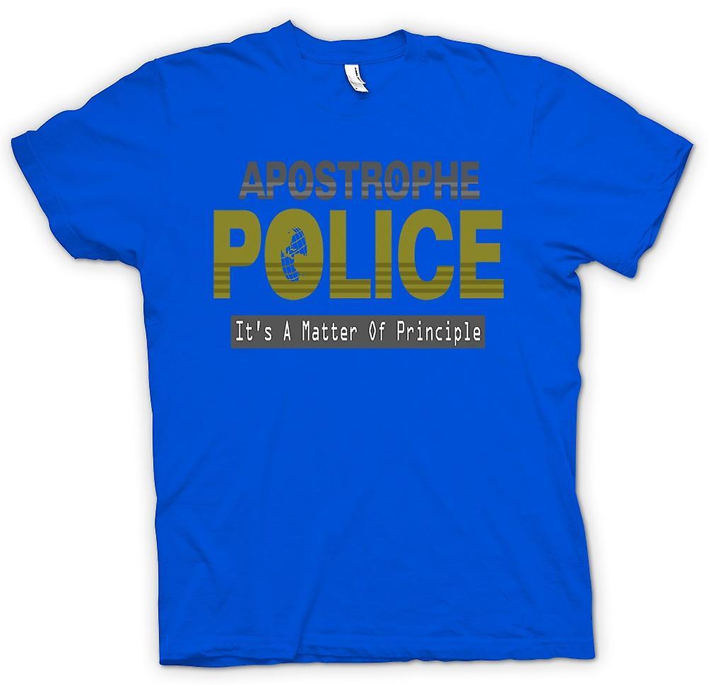 Heren T-shirt - apostrof politie - Funny