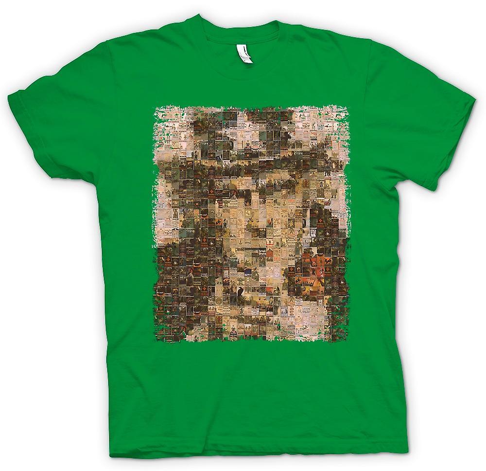 Mens t-skjorte - jeg vil du - krig plakat Collage - amerikanske krigen