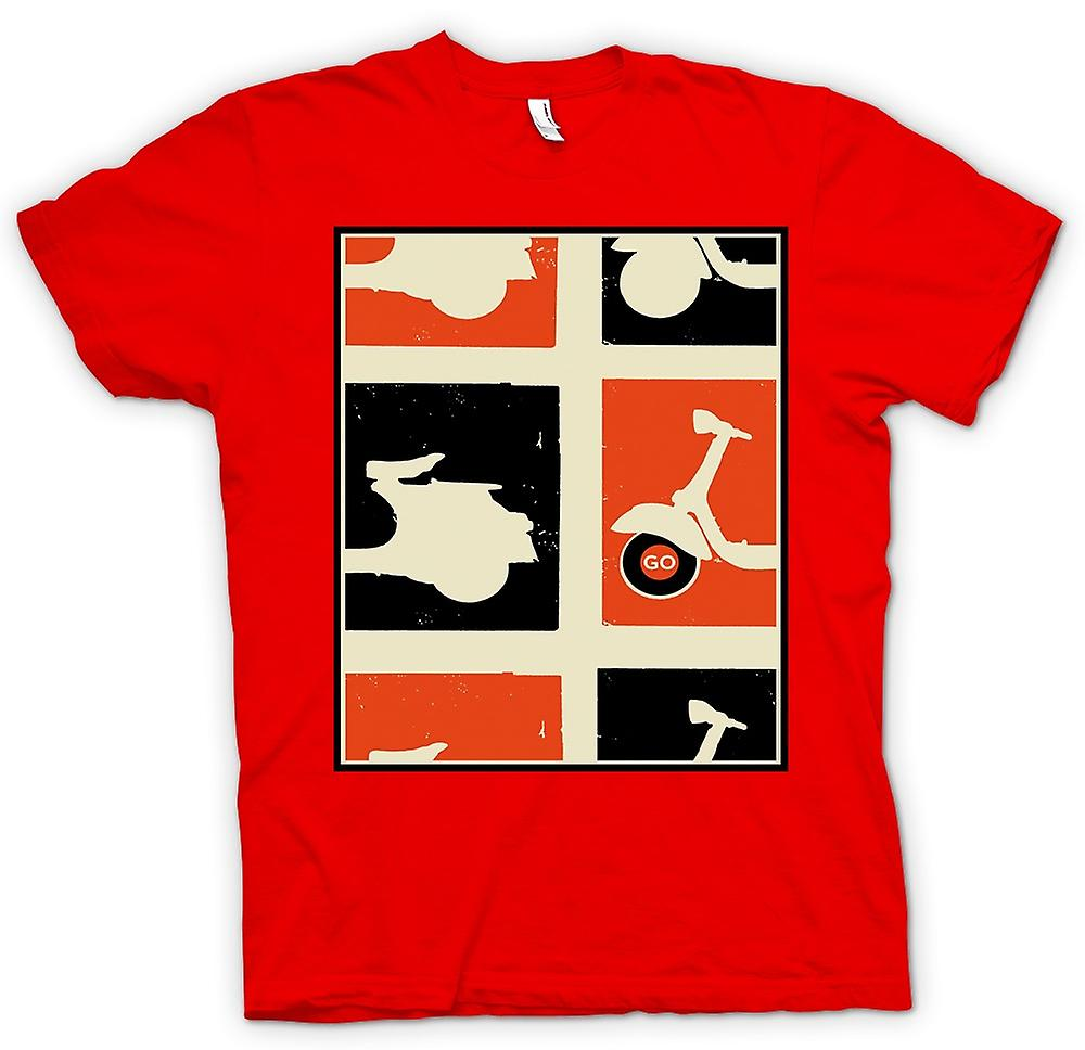 Mens t-shirt - Vespa Scooter - Pop Art Poster andare