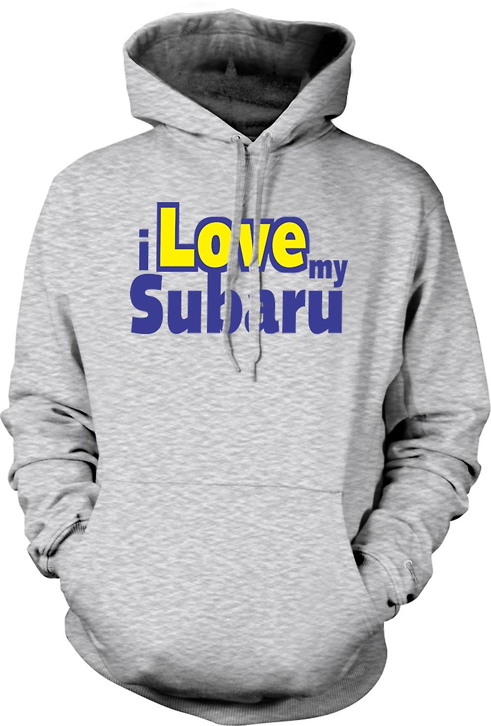 Mens Hoodie - I Love My Subaru - Car Enthusiast