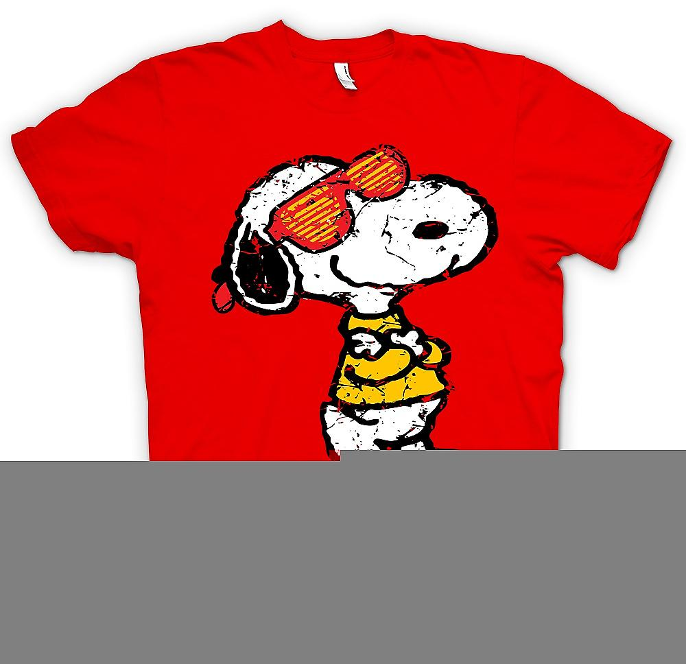 Mens T-shirt - Snoopy With Cool Shades - Funny