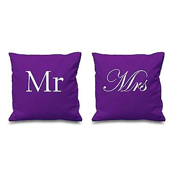 Mr and Mrs Purple Cushion Covers 16