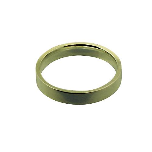 18ct Gold 4mm plain flat Court shaped Wedding Ring Size U