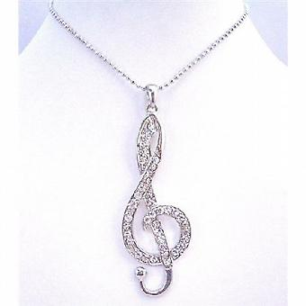 Hip Hop Pendant Musical Pendant Fully Embedded Cubic Zircon Necklace