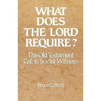 Che cosa fa il Signore richiede la chiamata antico testamento a testimonianza sociale di betulla & Bruce C.