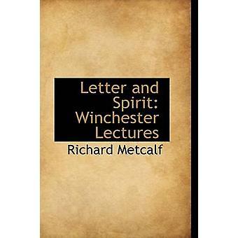 رسالة وروح وينشستر محاضرات ميتكالف ريتشارد آند