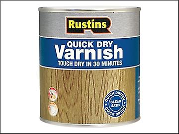 Rustins Quick Dry Varnish Satin Walnut 500ml