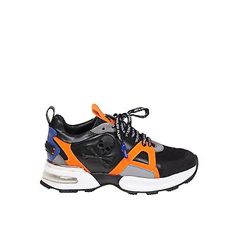 Philipp Plein Orange/black Leather Sneakers