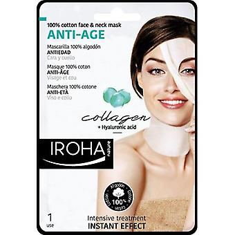 Iroha Nature Antiaging Cotton Mask with Collagen for Face and Neck