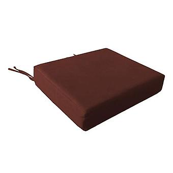 Foam Wheelchair Seat Cushion in Cotton Cover - Wine