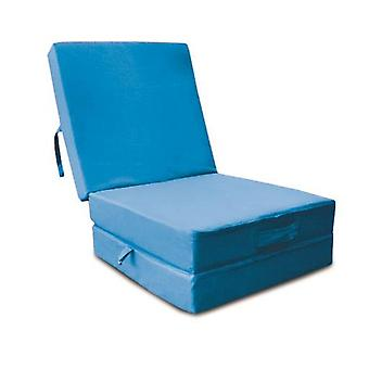 Cotton Fold Out Z Bed Cube - Turquoise