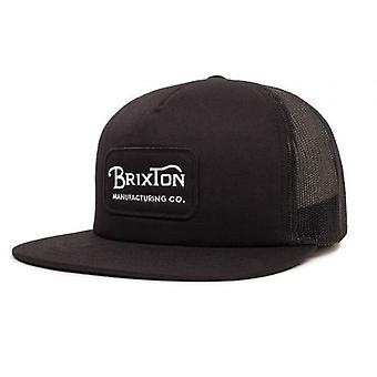 Brixton Grade Mesh Snapback Cap Black Black