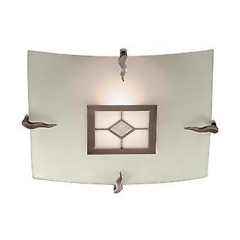 Ras de latón antiguo Tiffany techo luminaria - reflector 4207-30