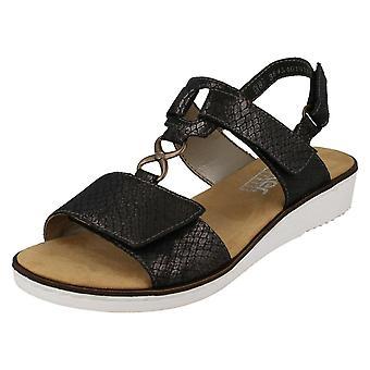 Ladies Rieker Wedge Sandals 63687
