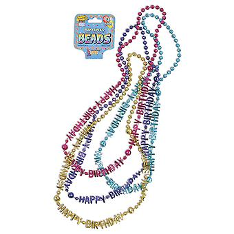 Bristol Novelty Birthday Bead Necklaces (Pack Of 4)