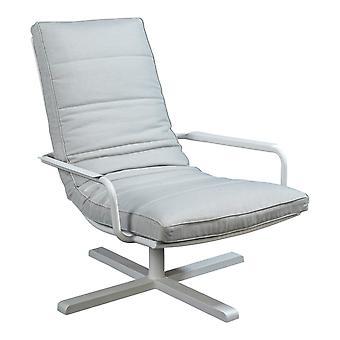 Flughafen7 | Papagayo Lounge Stuhl Armlehne |  Weiß | Gartenstühle