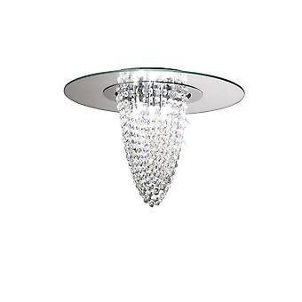 Diyas Oberon Ceiling 5 Light Polished Chrome/Mirror/Crystal