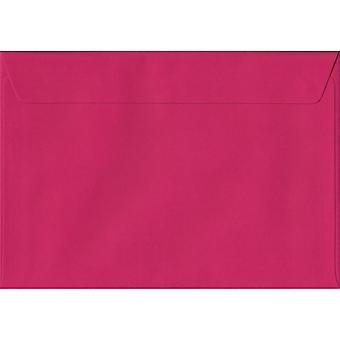 Fuchsia Pink Peel/Seal C5/A5 Coloured Pink Envelopes. 100gsm FSC Sustainable Paper. 162mm x 229mm. Wallet Style Envelope.
