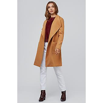 Louche Nara Waterfall Wool Coat Tan