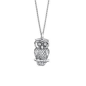 Elli Silver Women's Owl Pendant Necklace 925 - 70 cm 0101471513_70