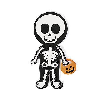 12 Halloween skjelett magnetiske Craft Kits | Barna Halloween håndverk