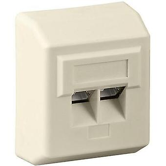 Network outlet Surface-mount CAT 5e 2 ports Goobay Beige