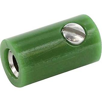 Jack socket Connector, straight Pin diameter: 2.6 mm Green econ connect HOKGN 1 pc(s)