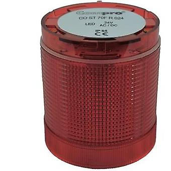 Signal tower component LED ComPro CO ST 70 Red Non-stop light signal, Flasher 24 Vdc, 24 Vac 75 dB